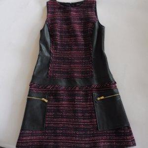 TRUSSADI Jeans Kleid aus Leder und Wollmix