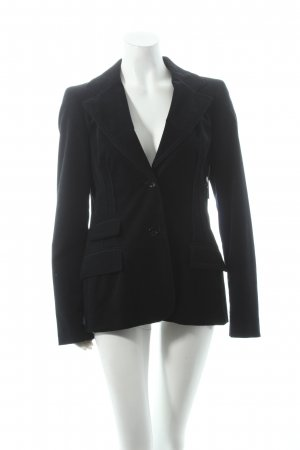 Trussardi Blazer schwarz Business-Look