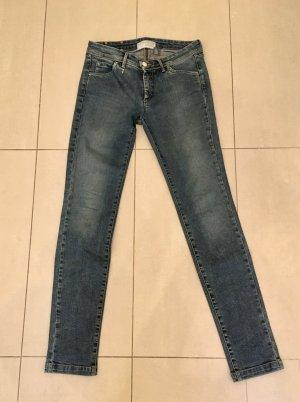 Trussardi Jeansy ze stretchu stalowy niebieski Tkanina z mieszanych włókien