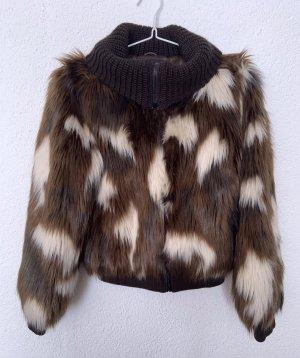 Trussardi Jeans Fake Fur Jacket multicolored
