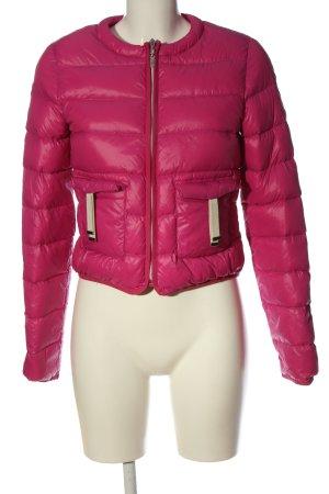 Trussardi Jeans Daunenjacke pink-wollweiß Steppmuster Casual-Look