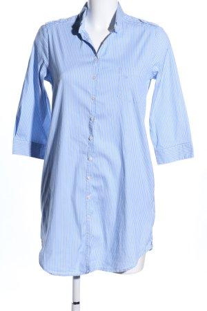 Trussardi Jeans Hemdblusenkleid blau-weiß Streifenmuster Business-Look