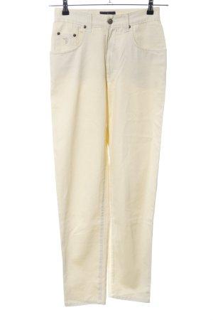 Trussardi Jeans High-Waist Hose creme Casual-Look