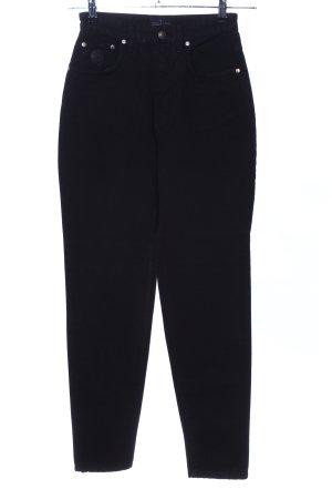 Trussardi Jeans Vaquero estilo zanahoria negro look casual
