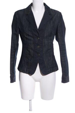Trussardi Jeans Kurz-Blazer schwarz-blau meliert Casual-Look
