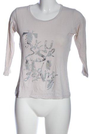 Trussardi Jeans Top à manches longues gris clair motif graphique