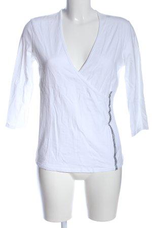 Trussardi Jeans Top à manches longues blanc style décontracté