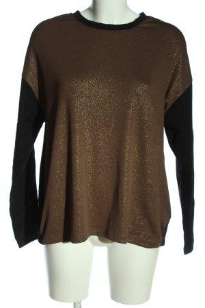 Trussardi Jeans Rundhalspullover schwarz-bronzefarben Casual-Look