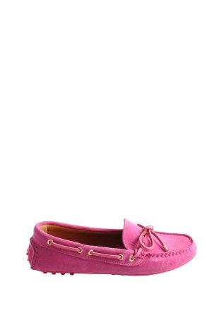 Trussardi Jeans Zapatos de marinero rosa look casual