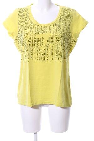 Trussardi Jeans T-Shirt blassgelb Casual-Look