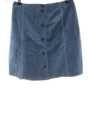 Trussardi Lederrock blau Casual-Look
