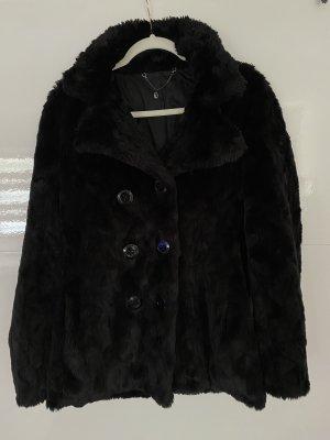 Trussardi Abrigo de piel negro
