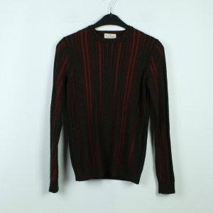 TRUSSARDI Pullover Gr. S Wolle rot dunkelgrün (20/03/259*)
