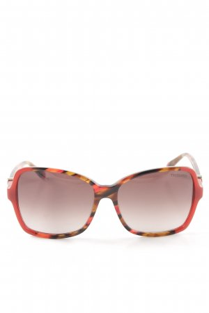 Trussardi Retro Brille grafisches Muster Casual-Look