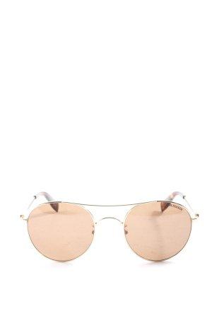 Trussardi runde Sonnenbrille bronzefarben Casual-Look