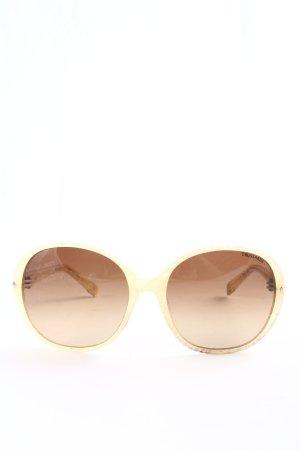 Trussardi runde Sonnenbrille creme Casual-Look