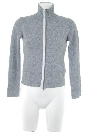 Trussardi Shirtjacke grau-wollweiß meliert sportlicher Stil
