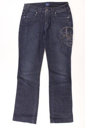 Trussardi Jeans a gamba dritta blu-blu neon-blu scuro-azzurro Cotone