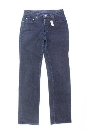 Trussardi Straight Leg Jeans blue-neon blue-dark blue-azure cotton