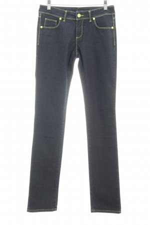Trussardi Straight-Leg Jeans dunkelblau-neongelb Jeans-Optik