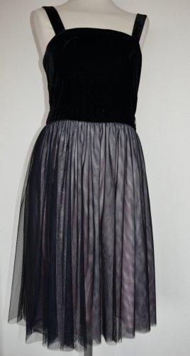 Trussardi - Wunderschönes Kleid aus Samt und Tüll Gr. 40 - neu