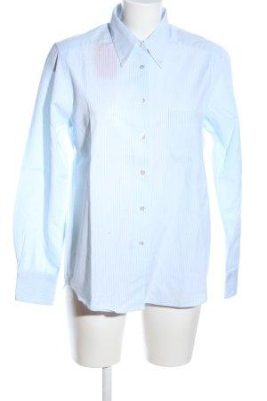 Trust Shirt Langarm-Bluse blau Streifenmuster Business-Look