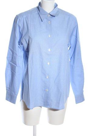 Trust Shirt Langarm-Bluse blau Webmuster Business-Look