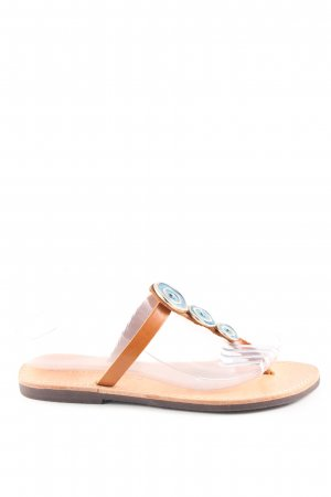 tsakiris.m Dianette sandalen bruin-turkoois casual uitstraling