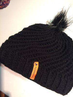 Tschipfelmütz Chapeau en tricot noir