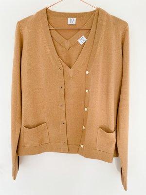 TSE Cashmere Silk Twin Set Gr. S beige / Camel NEU