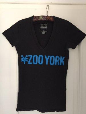 Zoo york T-shirt noir-bleu fluo