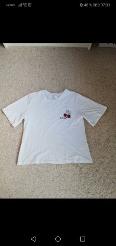 H&M Sports Shirt white-red