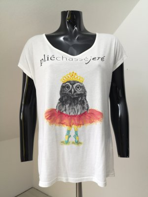 Montego Shirt met print wit