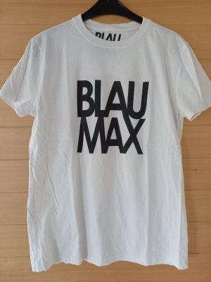 Blaumax T-shirt bianco-nero Tessuto misto