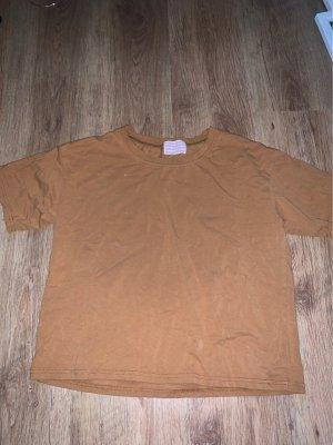 SheIn T-Shirt cognac-coloured