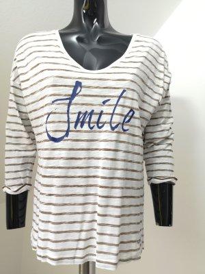 edc by Esprit Shirt met print wit-grijs-bruin