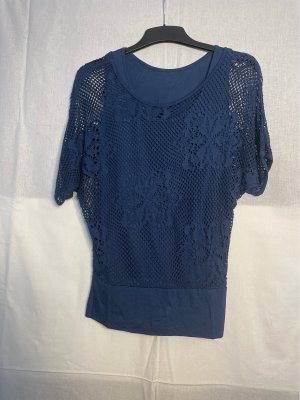 Siateczkowa koszulka niebieski