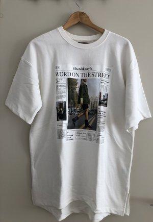Bershka T-shirt imprimé blanc cassé