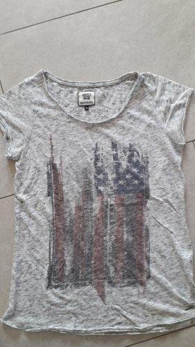 America Today Print Shirt light grey