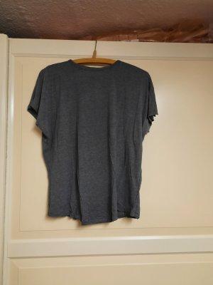 HM Koszulka z dekoltem woda ciemnoszary