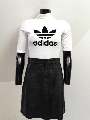 Adidas Camisa de cuello de tortuga blanco-negro