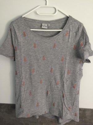 Blue Motion T-shirt srebrny-brązowy