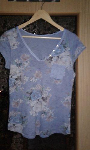 V-Neck Shirt dusky pink-blue