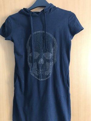 Blusa con capucha azul oscuro