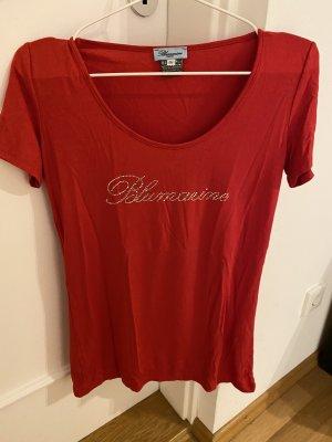Bluemarine T-shirt rouge-argenté