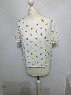 H&M Camisa holgada blanco-amarillo pálido
