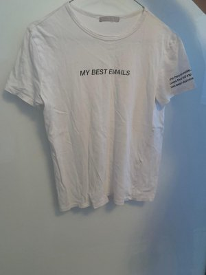 Zara Accesoires Boatneck Shirt white