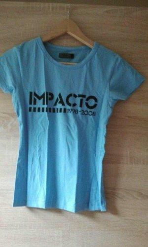 Only T-shirt lichtblauw Gemengd weefsel
