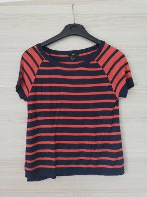 H&M T-shirt pomarańczowy-niebieski