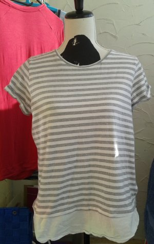 Esmara Batik shirt lichtgrijs
